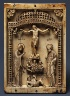 Byzantine / Plaque with the Crucifixion and the Stabbing of Hades / mid-10th century