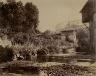 André Giroux / Landscape with Medieval Village / ca. 1853