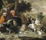 Melchior de Hondecoeter / The Barnyard / c. 1668