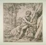 Simone Cantarini / St. John the Baptist in the Desert / 17th century