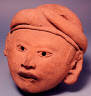 Unknown / Male head with hat / Pre-Columbian