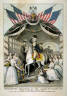 Nathaniel Currier / Washington's Reception by the Ladies on Passing the Bridge at Trenton, N.J. / 19th Century
