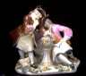 Meissen factory / Figurine group of two Free Masons / circa 1740