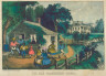 Currier and Ives / The Old Plantation Home. / 1872