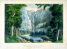 Currier and Ives / Bridal Veil Fall, Yo-semite Valley, California. / 19th Century