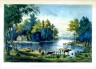 Currier and Ives / View on the Rondout. / 19th Century