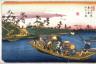 Eisen / The Ferry on the Toda River near Warabi, Station 3 on the Kisokaido (Warabi no eki todagawa watashi),   from the series  Sixty-nine Stations of the Kisokaido (Kisoji no eki) / circa 1835 - 1836
