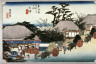 Hiroshige / The Running Well Teahouse at otsu (Otsu hashirii chamise), no. 54 from the series Fifty-three Stations of the Tokaido (Tokaido gosantsugi no uchi) / circa 1832 - 1833