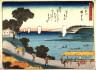 Hiroshige / Kanagawa,  no. 4 from a series of Fifty-three Stations of the Tokaido (Tokaido gojusantsugi) / circa 1838 - 1840