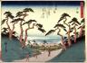 Hiroshige / Totsuka, no. 6 from a series of Fifty-three Stations of the Tokaido (Tokaido gojusantsugi) / circa 1838 - 1840