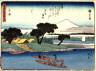 Hiroshige / Hiratsuka, no. 8 from a series of Fifty-three Stations of the Tokaido (Tokaido gojusantsugi) / circa 1838 - 1840