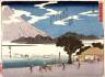 Hiroshige / Numazu, no. 13 from a series of Fifty-three Stations of the Tokaido (Tokaido gojusantsugi) / circa 1838 - 1840