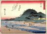 Hiroshige / Yui, no. 17 from a series of Fifty-three Stations of the Tokaido (Tokaido gojusantsugi) / circa 1838 - 1840