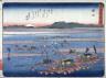 Hiroshige / Shimada, no. 24 from a series of Fifty-three Stations of the Tokaido (Tokaido gojusantsugi) / circa 1838 - 1840