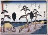 Hiroshige / Fukuroi, no. 28 from a series of Fifty-three Stations of the Tokaido (Tokaido gojusantsugi) / circa 1838 - 1840