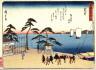 Hiroshige / Arai, no. 32 from a series of Fifty-three Stations of the Tokaido (Tokaido gojusantsugi) / circa 1838 - 1840