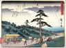 Hiroshige / Futagawa,  no. 34 from a series of Fifty-three Stations of the Tokaido (Tokaido gojusantsugi) / circa 1838 - 1840