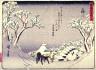Hiroshige / Fujikawa, no. 38 from a series of Fifty-three Stations of the Tokaido (Tokaido gojusantsugi) / circa 1838 - 1840