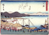 Hiroshige / Otsu, no. 54 from a series of Fifty-three Stations of the Tokaido (Tokaido gojusantsugi) / circa 1838 - 1840