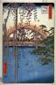 Hiroshige / Precincts of the Tenjin Shrine at Kameido (Kameido tenjin kedai), no. 57 from the series One Hundred Views of Famous Places in Edo (Meisho edo hyakkei) / 1856