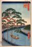 Hiroshige / Five Pines on the Konagi River (Konagigawa gohonmatsu), no. 97 in the series One Hundred Views of Famous Places in Edo  (Meisho edo hyakkei) / 1856