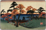 Hiroshige / [Viewing Autumn Leaves on Hills Above Edo Bay],  from a series  Famous Places in the Eastern Capital (Toto meisho) / circa 1835 - 1836