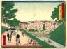 Hiroshige III / The Double Bridge (Spectacle  Bridge)from Surugadai  (Surugadai yori meganebashi zu),   from the series Thirty-six Views of Modern Tokyo (Tokyo kaika sanjurokkei) / 1874