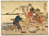 Hokusai / Shinagawa,  no. 2  from an untitled Tokaido series (reissue of  Hokusai's Tokaido series for poetry circle of Okazaki) / 1804