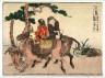 Hokusai / Mishima, no. 12  from an untitled Tokaido series (reissue of  Hokusai's Tokaido series for poetry circle of Okazaki) / 1804
