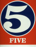 Robert Indiana / Five from the portfolio Numbers / 1968
