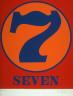 Robert Indiana / Seven from the portfolio Numbers / 1968