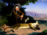 Charles Christian Nahl / Peter Quivey and the Mountain Lion / 1857