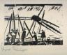 Lyonel Feininger / Anglers (With Sun) / 1941