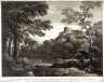 Thomas Major / Landscape with man seated at base of tree, at right / 1750