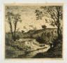 Charles Emile Jacque / Paysage - Peche a la ligne / 19th Century
