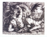 Hendrik Goltzius / The companions of Cadmus devoured by a dragon / 16th - 17th century