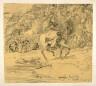 Rodolphe Bresdin / La cavalière orientale dans les montagnes / 1858