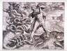 Cornelis Cort / Hercules Killing the Lernean Hydra, pl. 5 from a set of ten Labors of Hercules / circa 1565