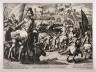 Matthaus Merian (le vieux) / Roman Battle on the Bridge over the Tiber at Hadrian's Tomb / 1622
