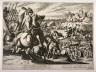 Matthaus Merian (le vieux) / Battle scene, Romans going into action / 16th - 17th century