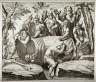 after Diana Scultori (Mantovana) / Attilius Regulus Closed in a Barrel, copy after Diana Scultori's engraving after Giulio Romano's fresco in the Sala dei Venti, Palazzo del Te, Mantua / 16th century