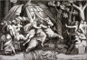 Giulio  di Antonio Bonasone / Cloelia Crossing the Tiber, after Polidoro da Caravaggio / 16th century