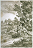 Giovanni Francesco Grimaldi / Landscape with Two Fighting Goats / 17th century