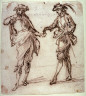 attrib. to Luca Giordano / Two Courtiers / 17th century