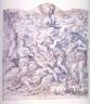 Antonio Grano / Recto:Death of Abel Verso: Study for a Curtain / 17th - 18th century