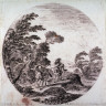 Stefano Della Bella / The Wind in the Forest, from the series Landscapes and Ruins of Rome / 17th century