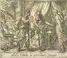 Antonio Tempesta / Medea Peliades in parricidium stimulat(Medea Urging the Daughters of King Pelias to Murder their Father), pl. 65 from the series Ovids Metamorphoses / 17th century