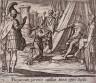 Antonio Tempesta / Purpureum parentis capillum Minoi offert Scylla (Scylla Rejected by Minos after Destroying Her Father), pl. 73 from the series Ovids Metamorphoses / 17th century