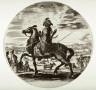 Stefano Della Bella / An African Rider, from the series Cavaliers nègres, polonais et hongrois / 1651