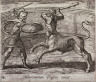 Antonio Tempesta / Minotaurum Theseus vincit (Theseus and the Minotaur), pl. 74 from the series Ovids Metamorphoses / 17th century